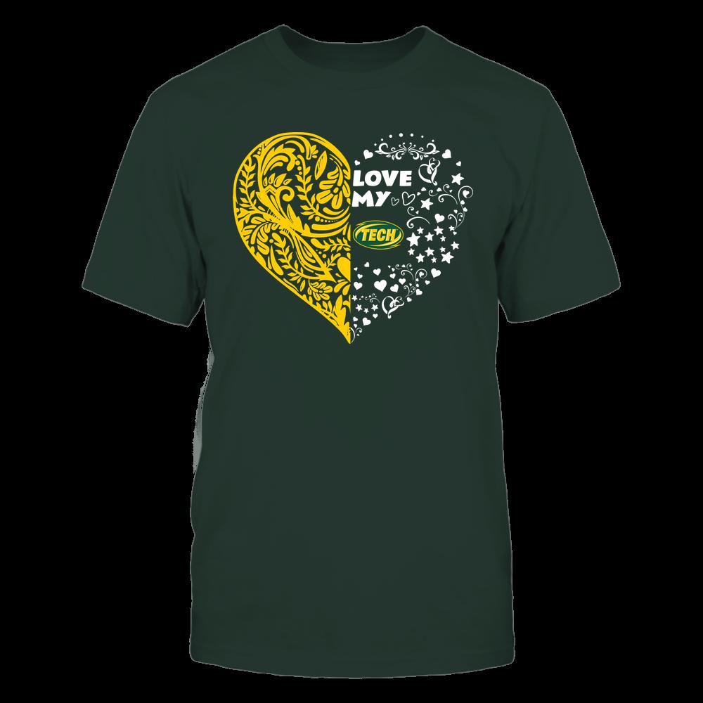 Arkansas Tech Golden Suns - Love My Team - Half Floral Pattern Front picture