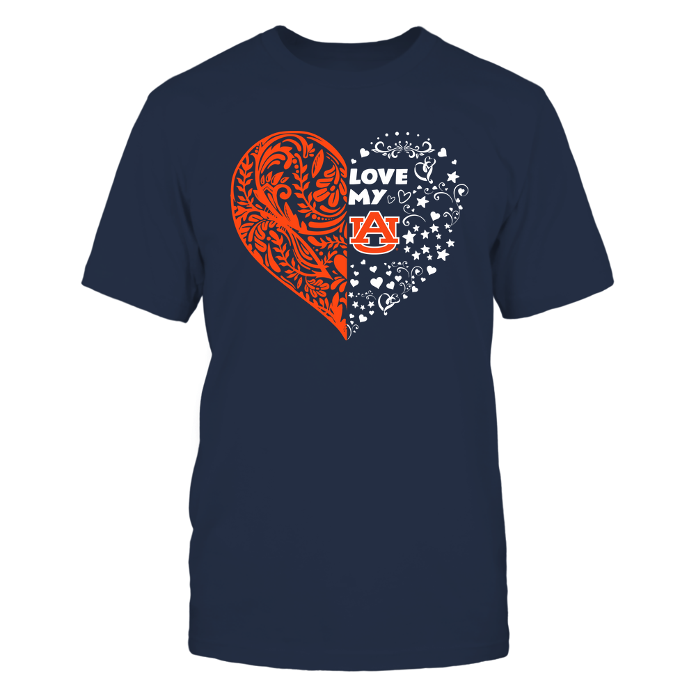 Auburn Tigers - Love My Team - Half Floral Pattern Front picture
