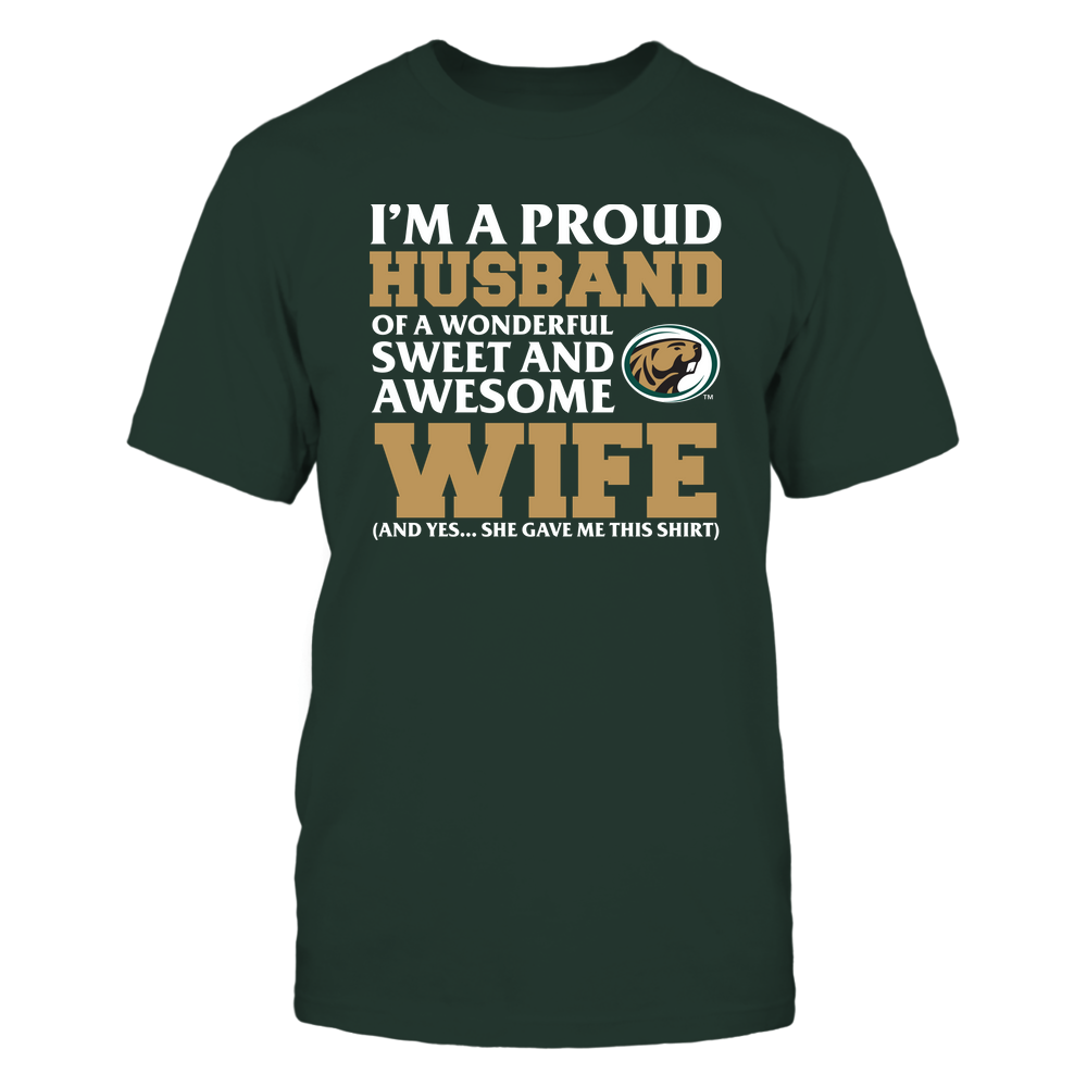 Bemidji State Beavers - Husband - Wife Gave Me This Shirt Front picture