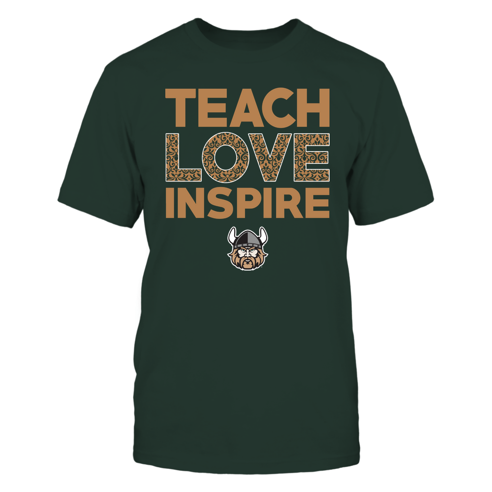 Cleveland State Vikings - Teach Love Inspire - Brocade Pattern Front picture