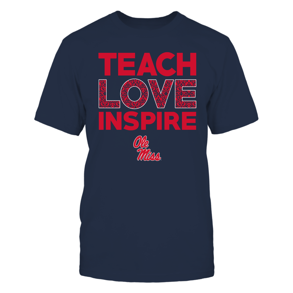 Ole Miss Rebels - Teach Love Inspire - Brocade Pattern Front picture