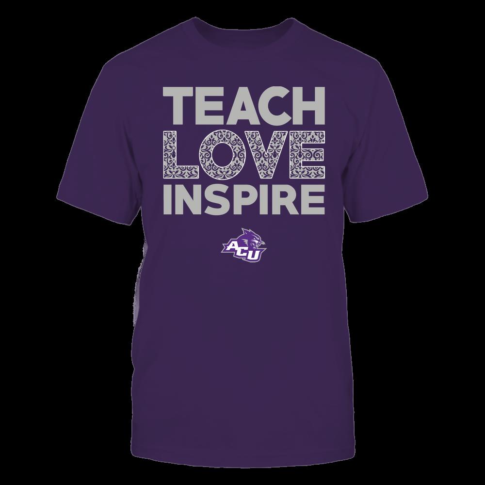 Abilene Christian Wildcats - Teach Love Inspire - Brocade Pattern Front picture