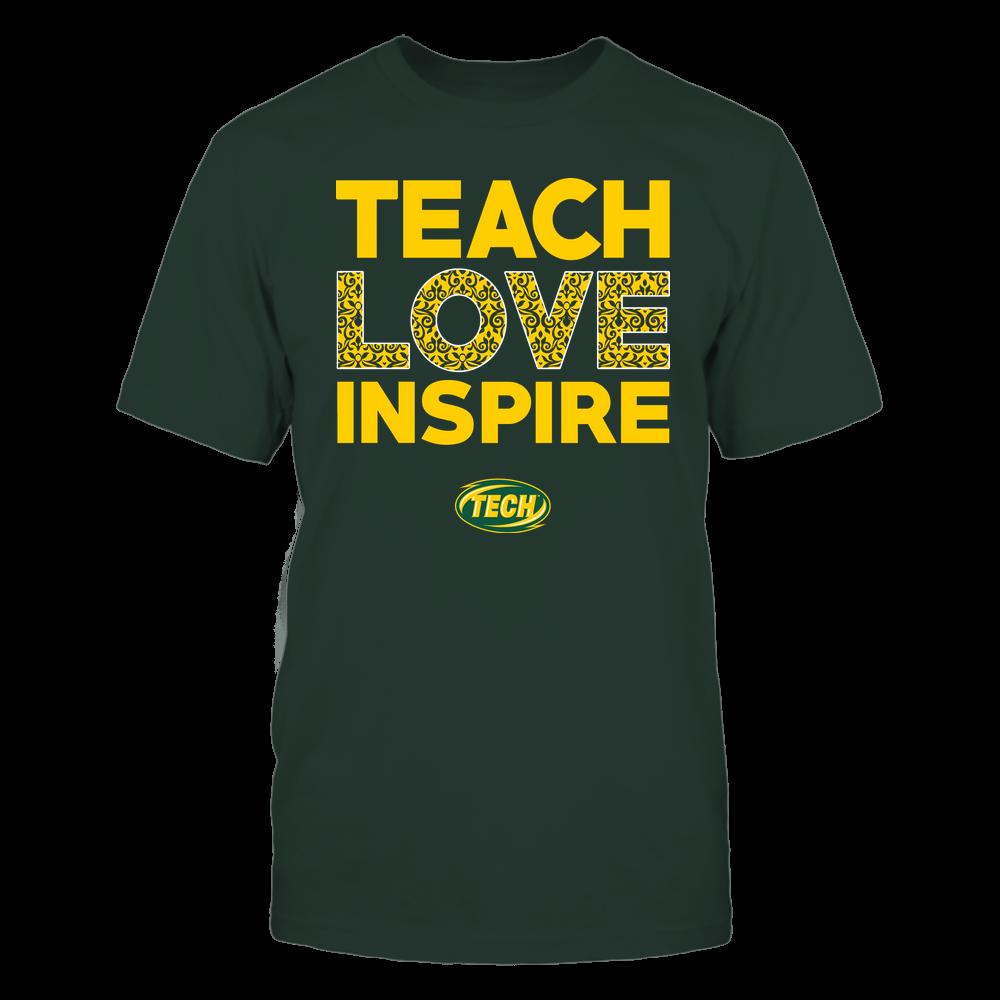 Arkansas Tech Golden Suns - Teach Love Inspire - Brocade Pattern Front picture