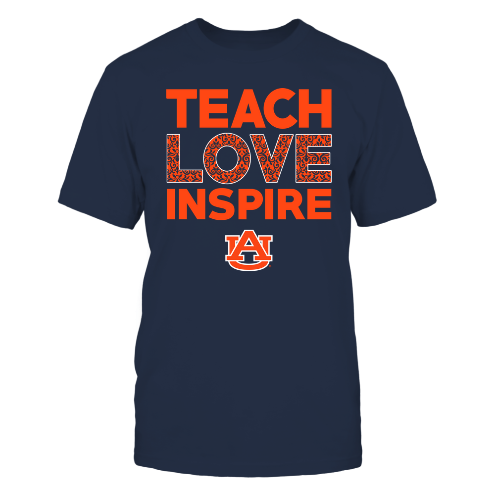 Auburn Tigers - Teach Love Inspire - Brocade Pattern Front picture