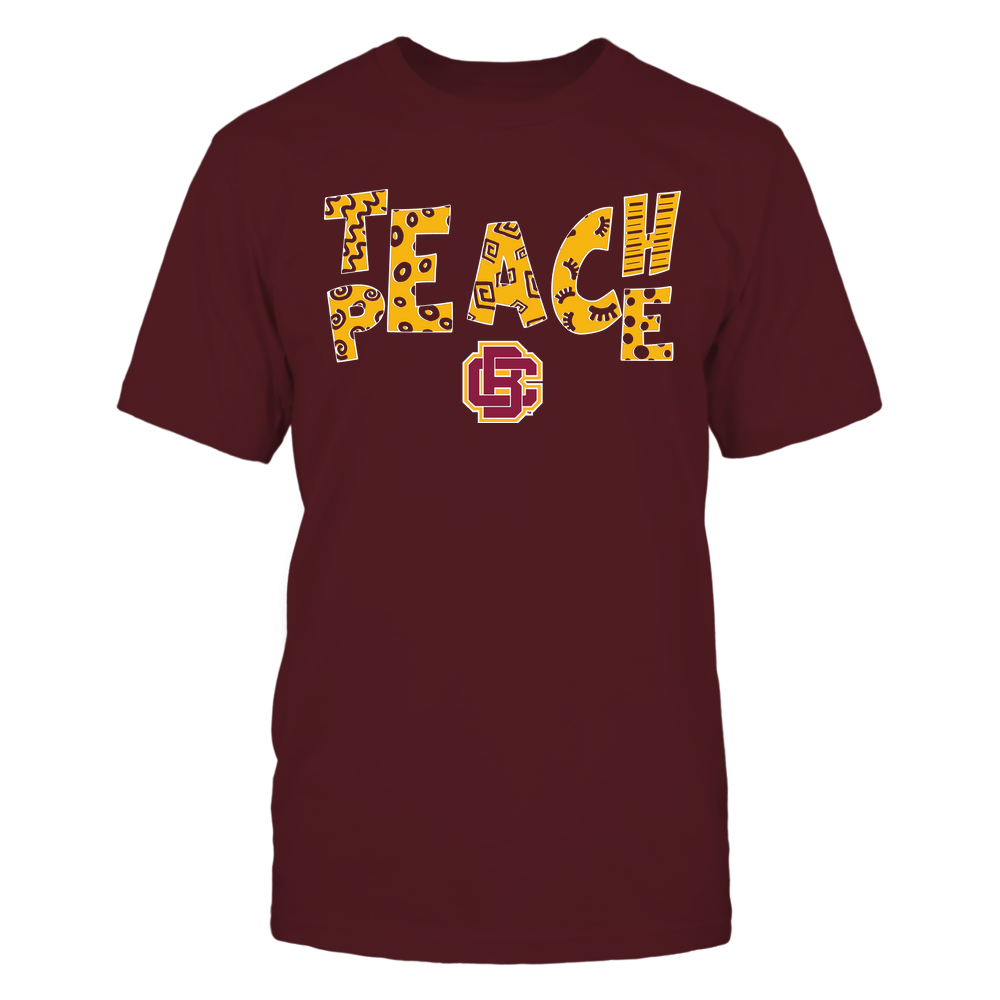 Bethune-Cookman Wildcats - Teach Peace - Doodle Pattern Front picture