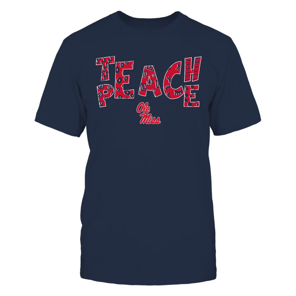 Ole Miss Rebels - Teach Peace - Doodle Pattern Front picture