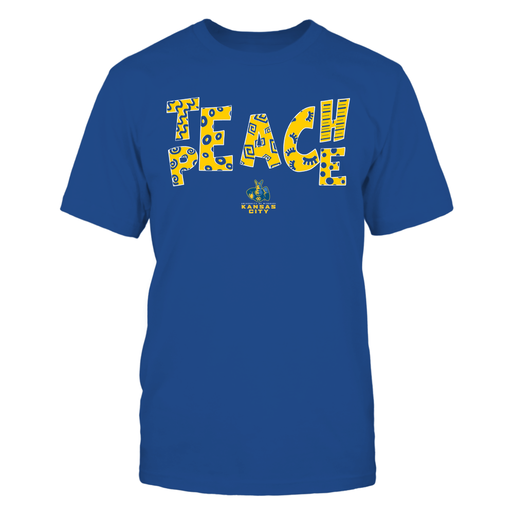 UMKC Kangaroos - Teach Peace - Doodle Pattern Front picture