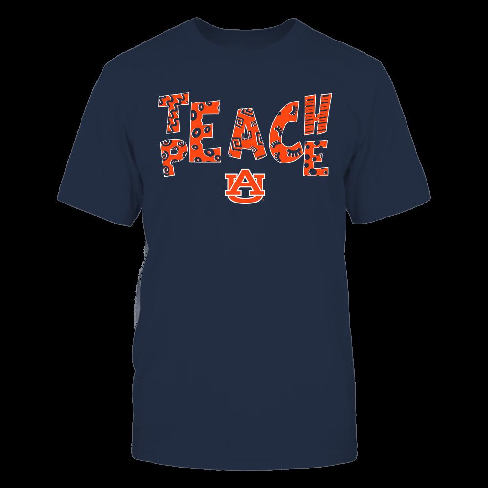 Auburn Tigers - Teach Peace - Doodle Pattern Front picture