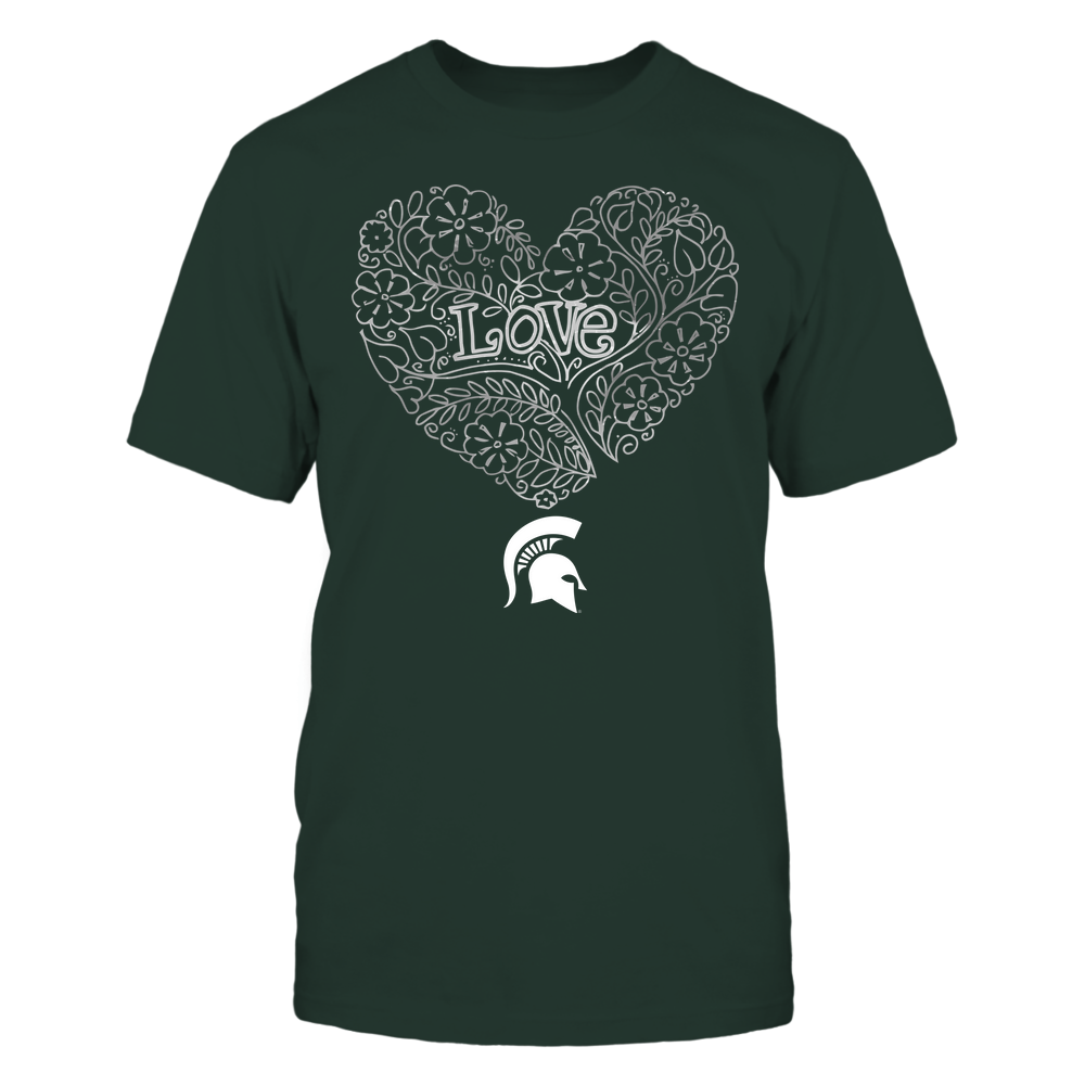 Michigan State Spartans - Love - Tree Heart Galaxy Front picture