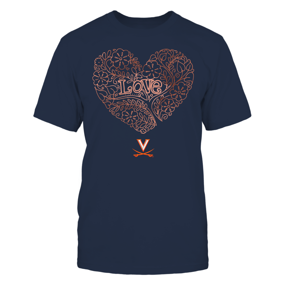 Virginia Cavaliers - Love - Tree Heart Galaxy Front picture