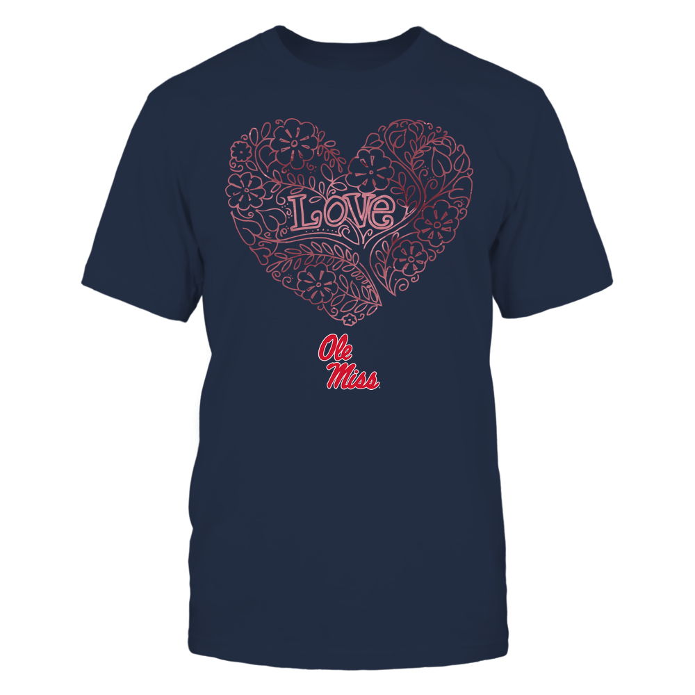 Ole Miss Rebels - Love - Tree Heart Galaxy Front picture