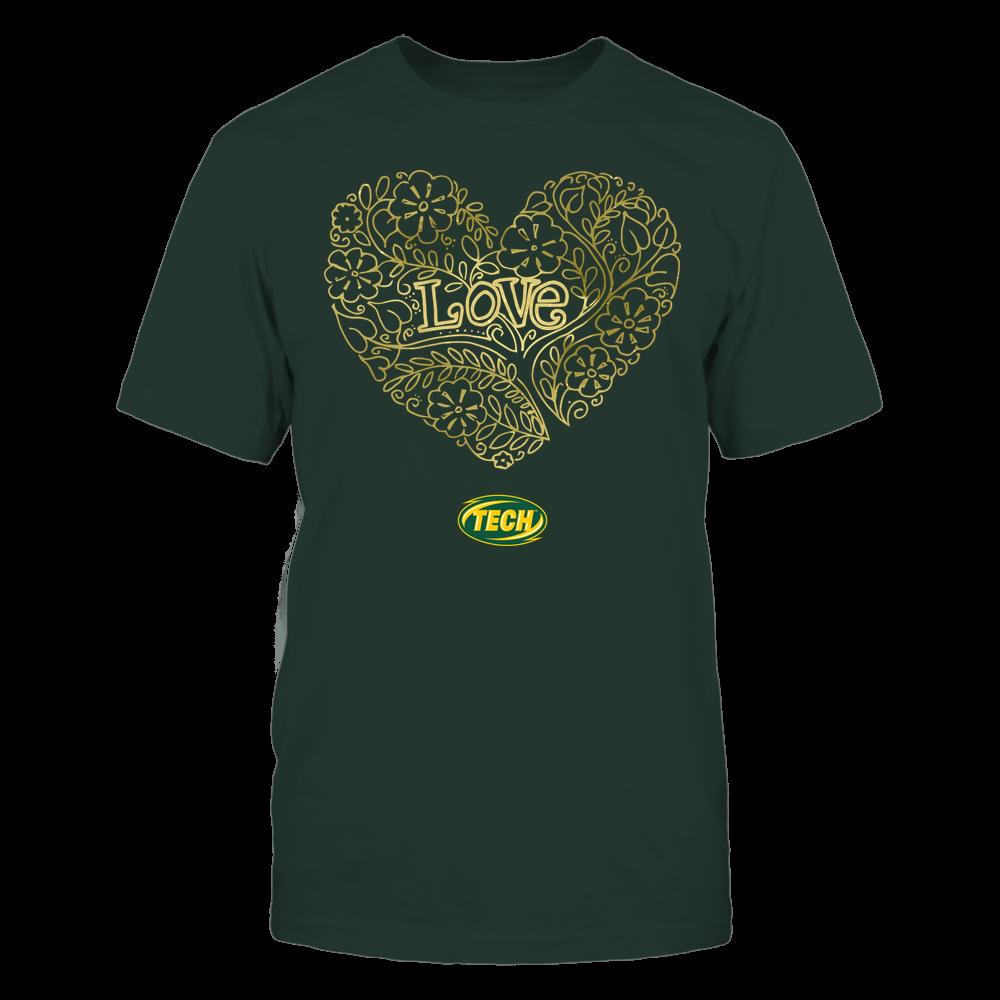 Arkansas Tech Golden Suns - Love - Tree Heart Galaxy Front picture