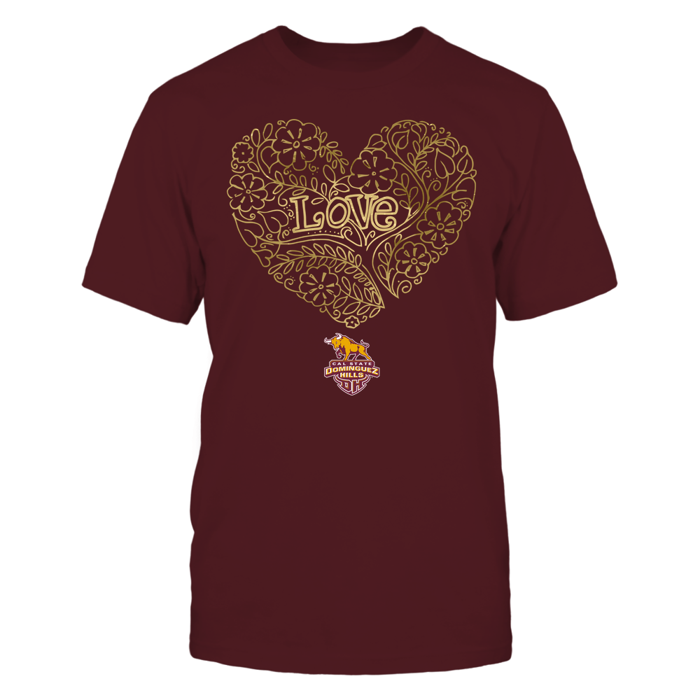 Cal State Dominguez Hills Toros - Love - Tree Heart Galaxy Front picture