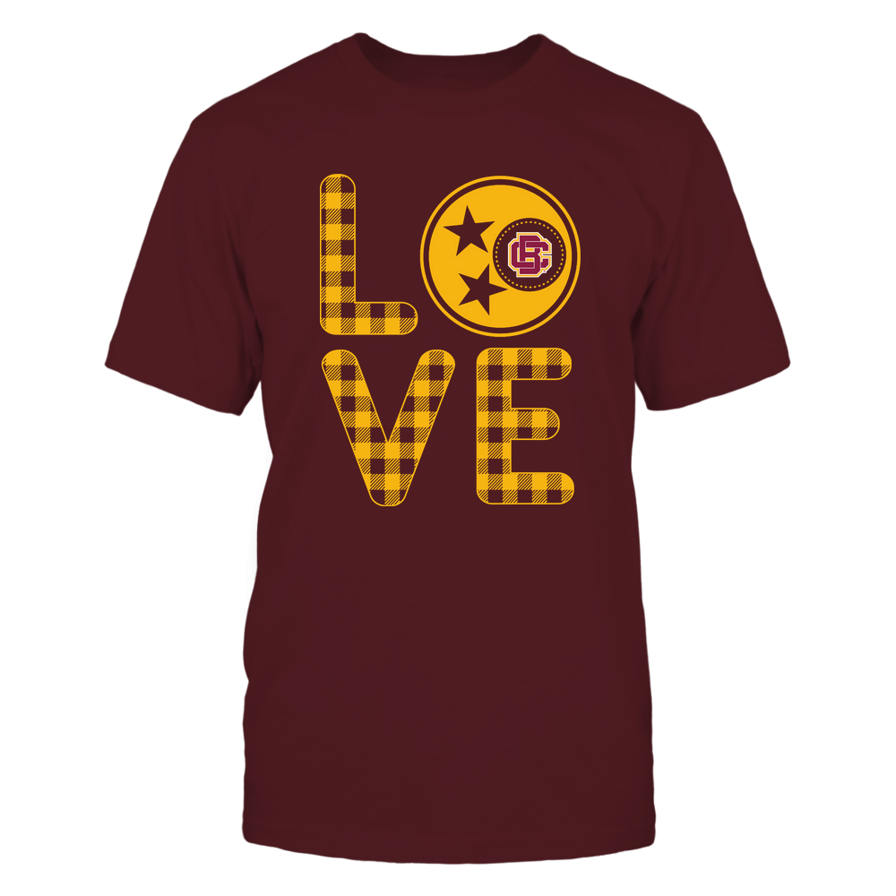 Bethune-Cookman Wildcats - Stacked Love - Tristar - Checkered Pattern Front picture