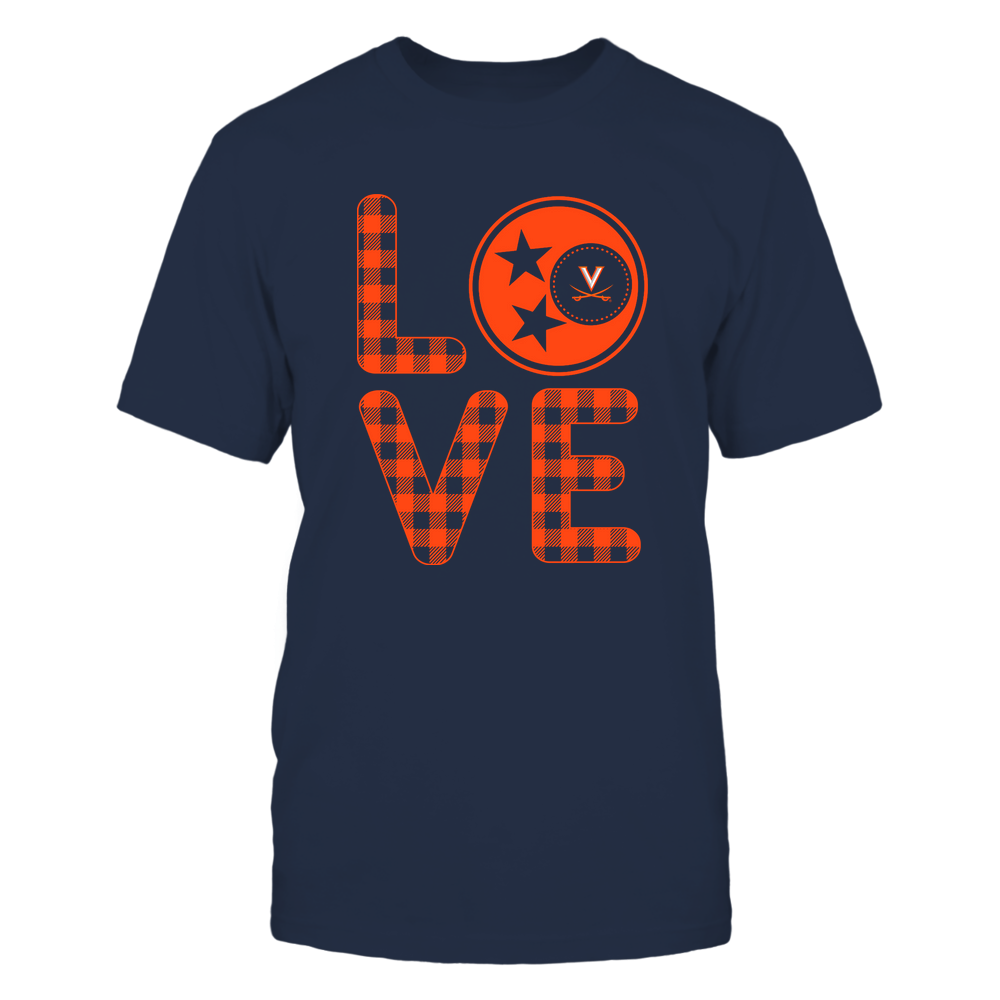 Virginia Cavaliers - Stacked Love - Tristar - Checkered Pattern Front picture