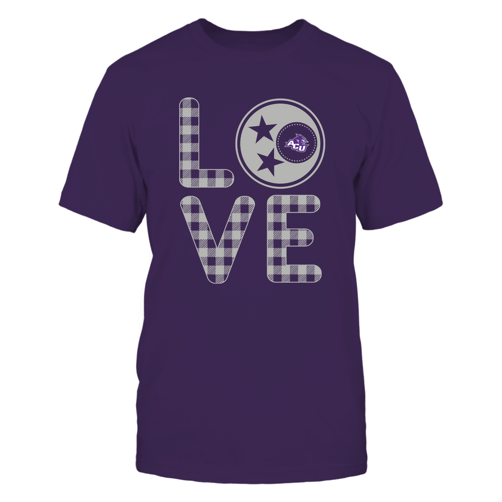 Abilene Christian Wildcats - Stacked Love - Tristar - Checkered Pattern Front picture