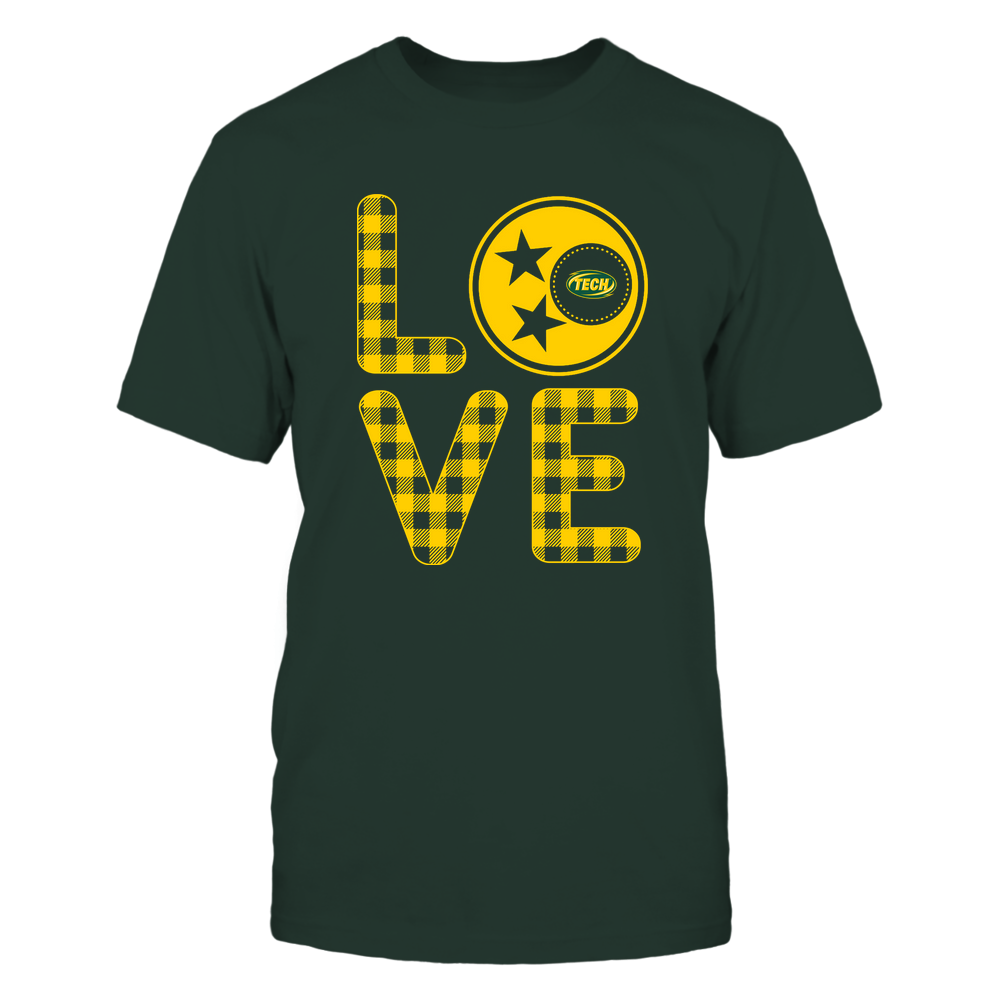 Arkansas Tech Golden Suns - Stacked Love - Tristar - Checkered Pattern Front picture