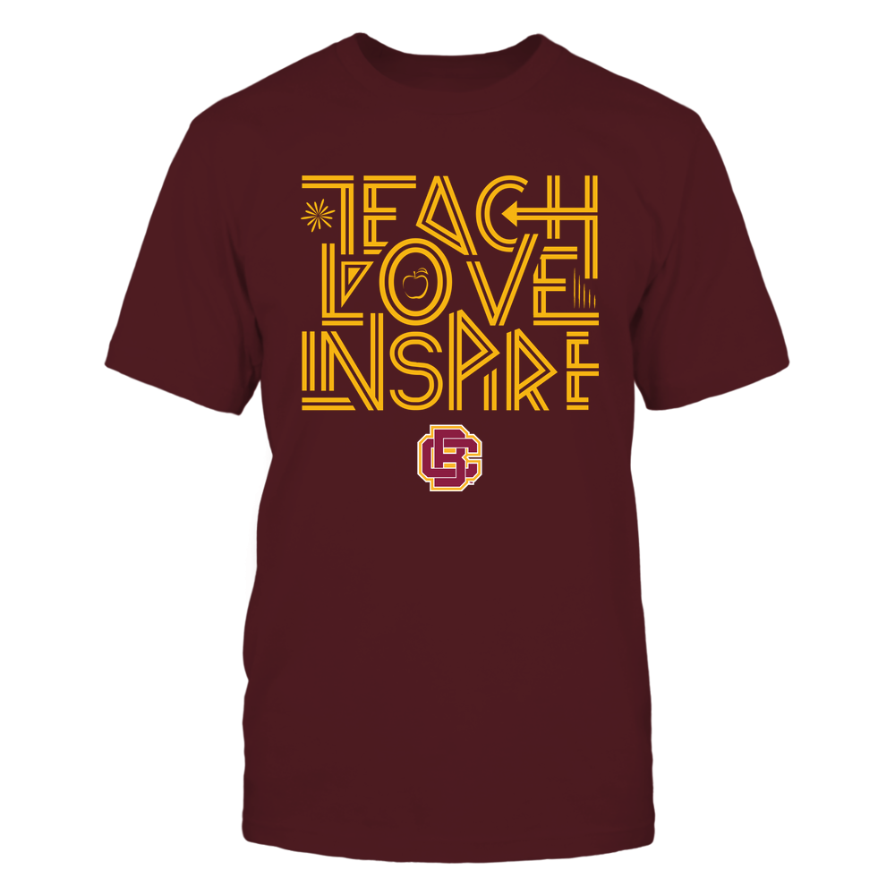 Bethune-Cookman Wildcats - Teach Love Inspire - Graphic Design Front picture