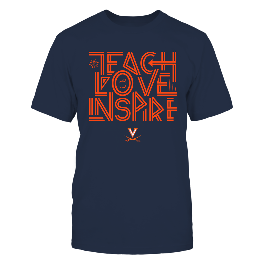 Virginia Cavaliers - Teach Love Inspire - Graphic Design Front picture