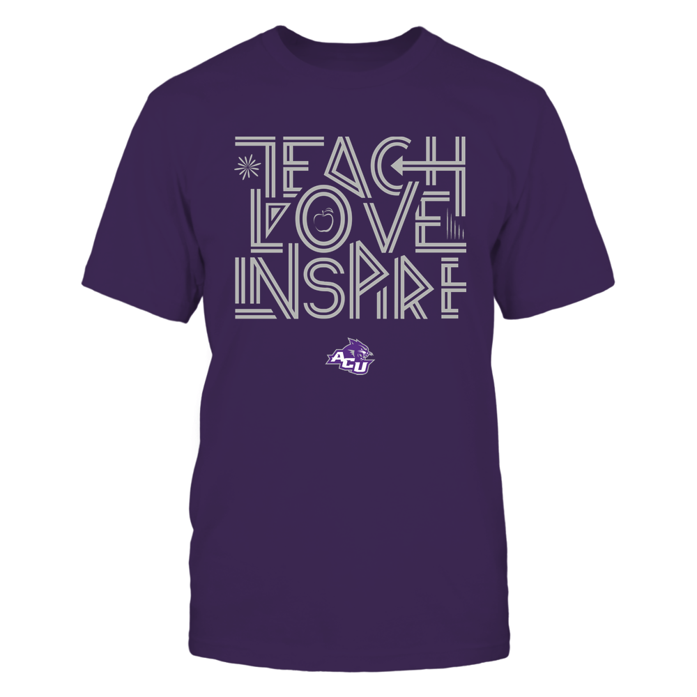 Abilene Christian Wildcats - Teach Love Inspire - Graphic Design Front picture