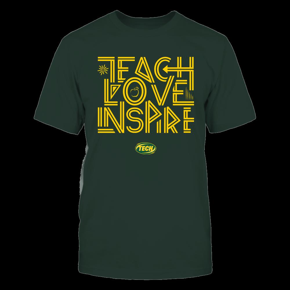 Arkansas Tech Golden Suns - Teach Love Inspire - Graphic Design Front picture