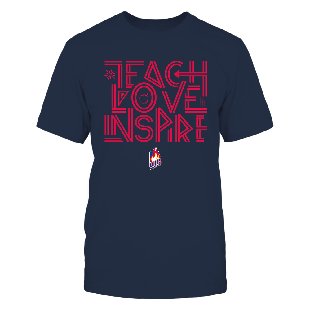 UIC Flames - Teach Love Inspire - Graphic Design Front picture