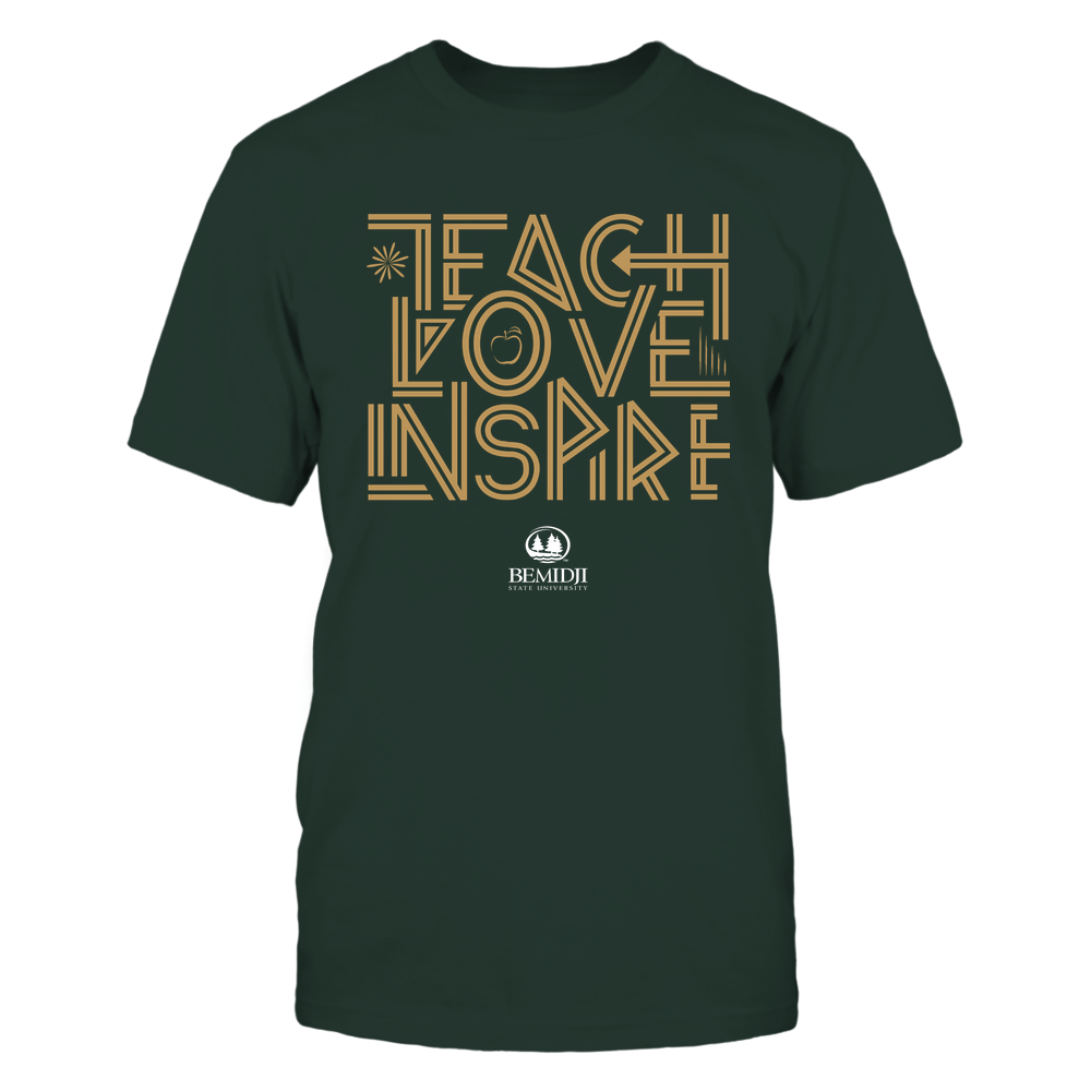 Bemidji State Beavers - Teach Love Inspire - Graphic Design Front picture