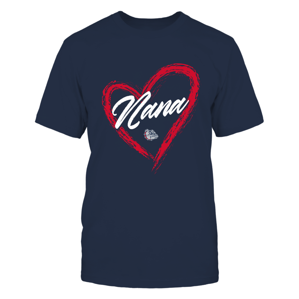 Gonzaga Bulldogs - Heart Shape - Nana - University Logo Front picture