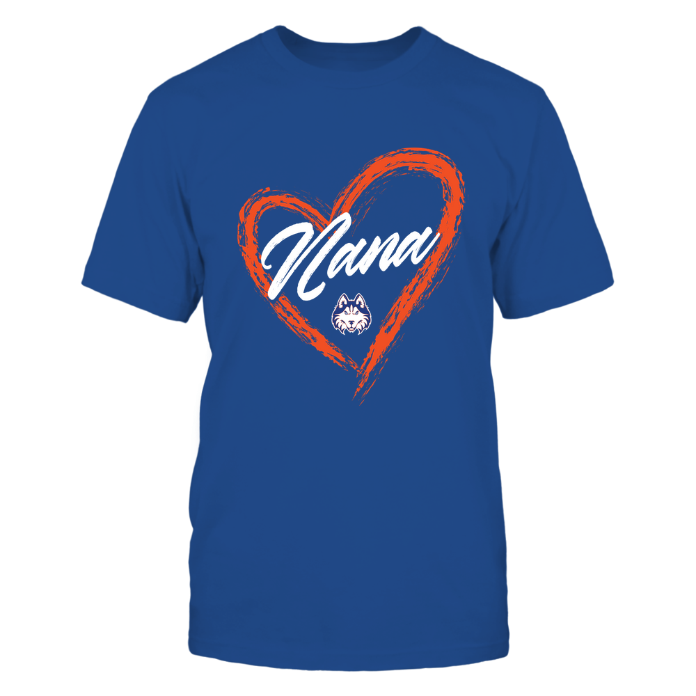 Houston Baptist Huskies - Heart Shape - Nana - University Logo Front picture
