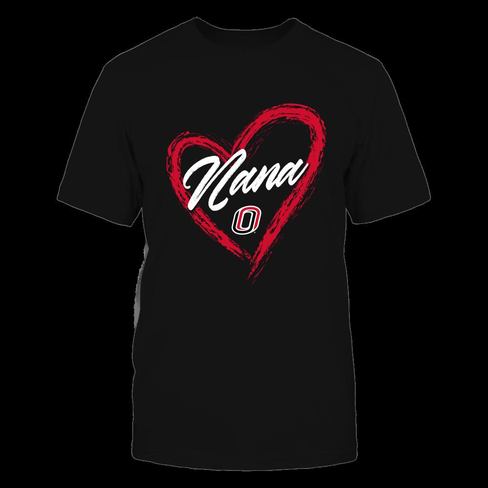 Nebraska Omaha Mavericks - Heart Shape - Nana - University Logo Front picture