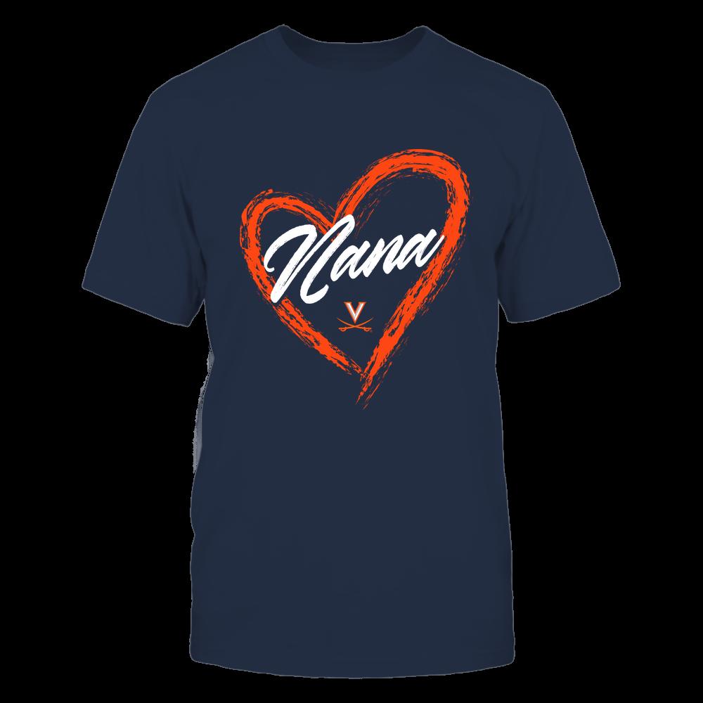 Virginia Cavaliers - Heart Shape - Nana - University Logo Front picture