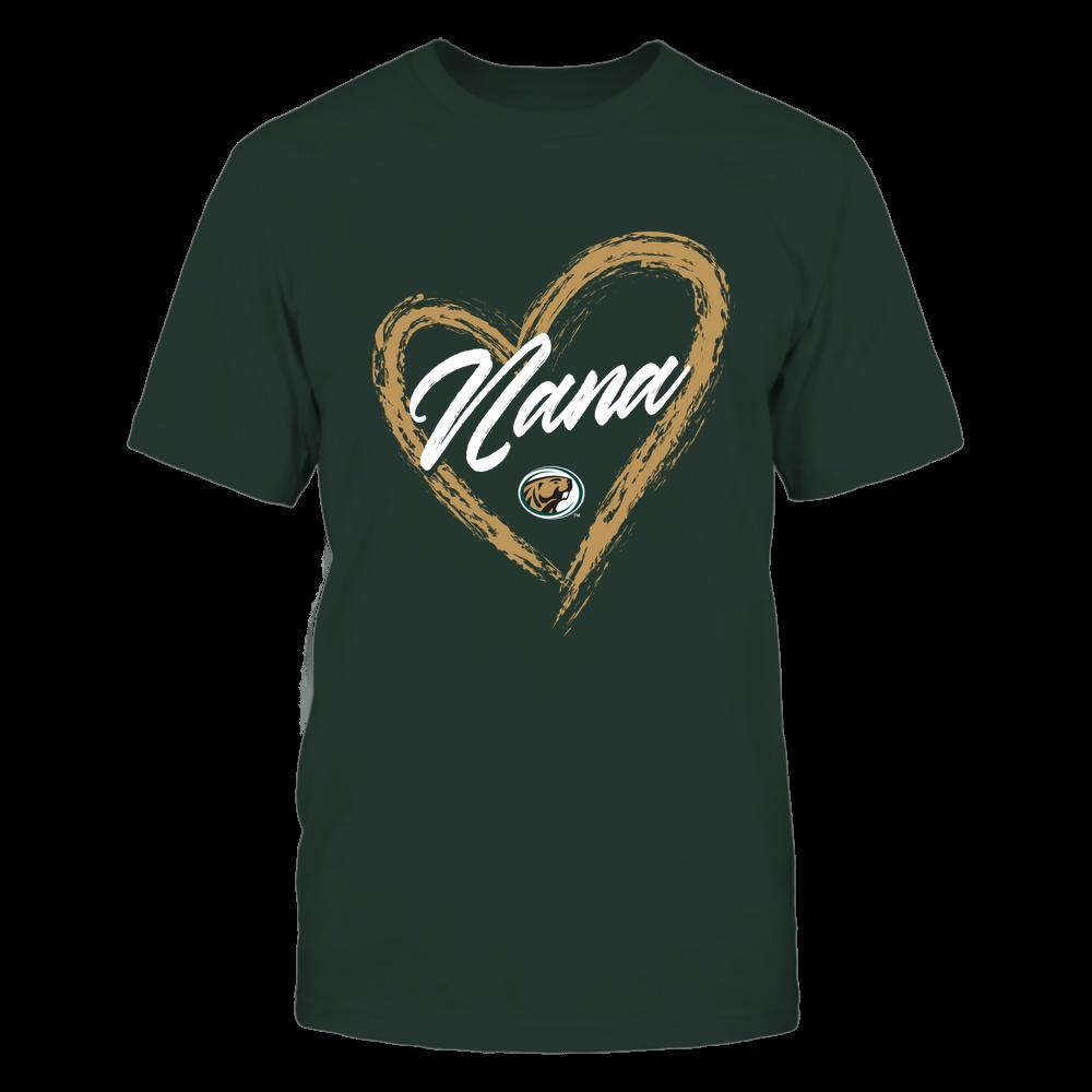 Bemidji State Beavers - Heart Shape - Nana - University Logo Front picture