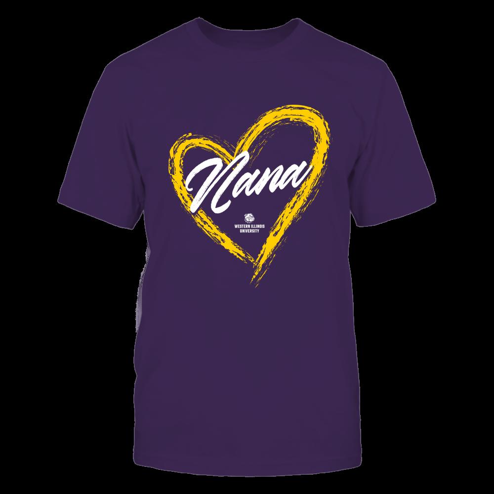 Western Illinois Leathernecks - Heart Shape - Nana - University Logo Front picture