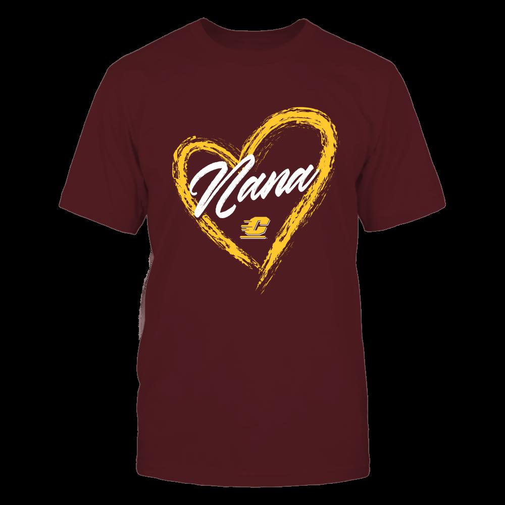 Central Michigan Chippewas - Heart Shape - Nana - University Logo Front picture