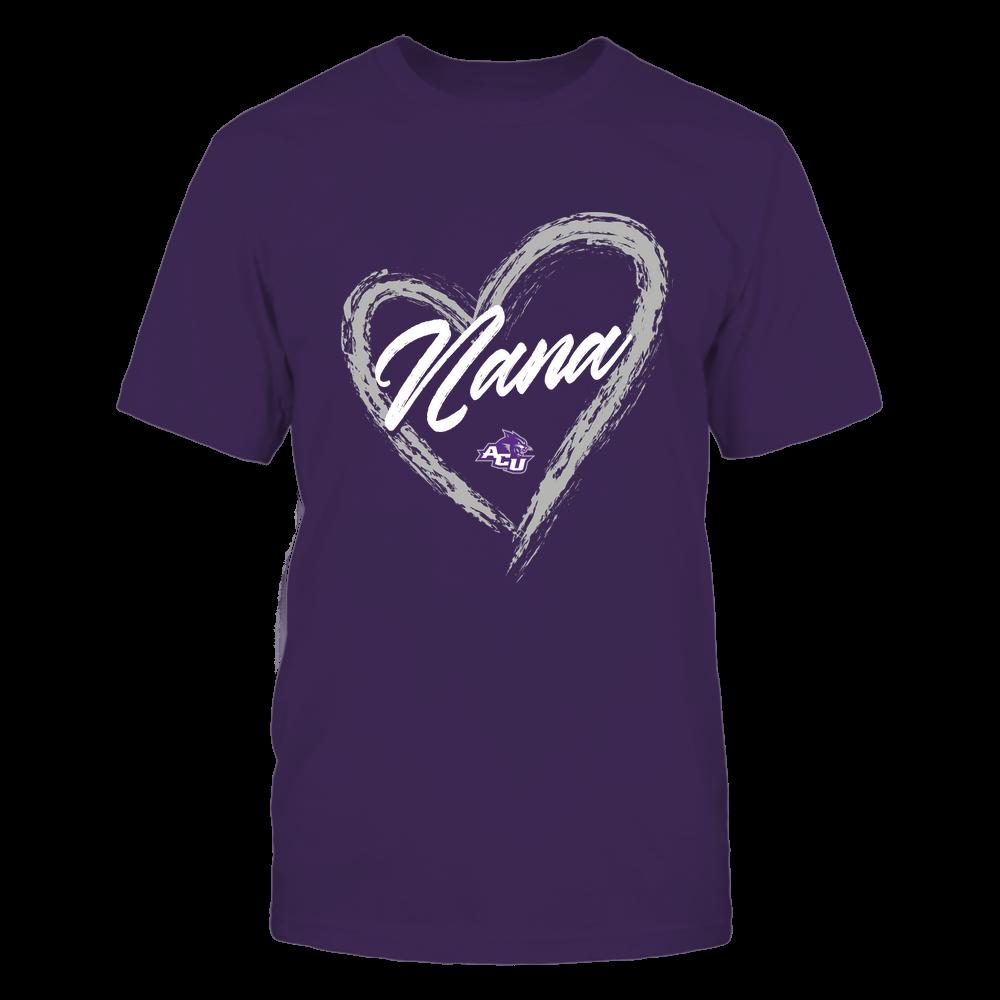 Abilene Christian Wildcats - Heart Shape - Nana - University Logo Front picture