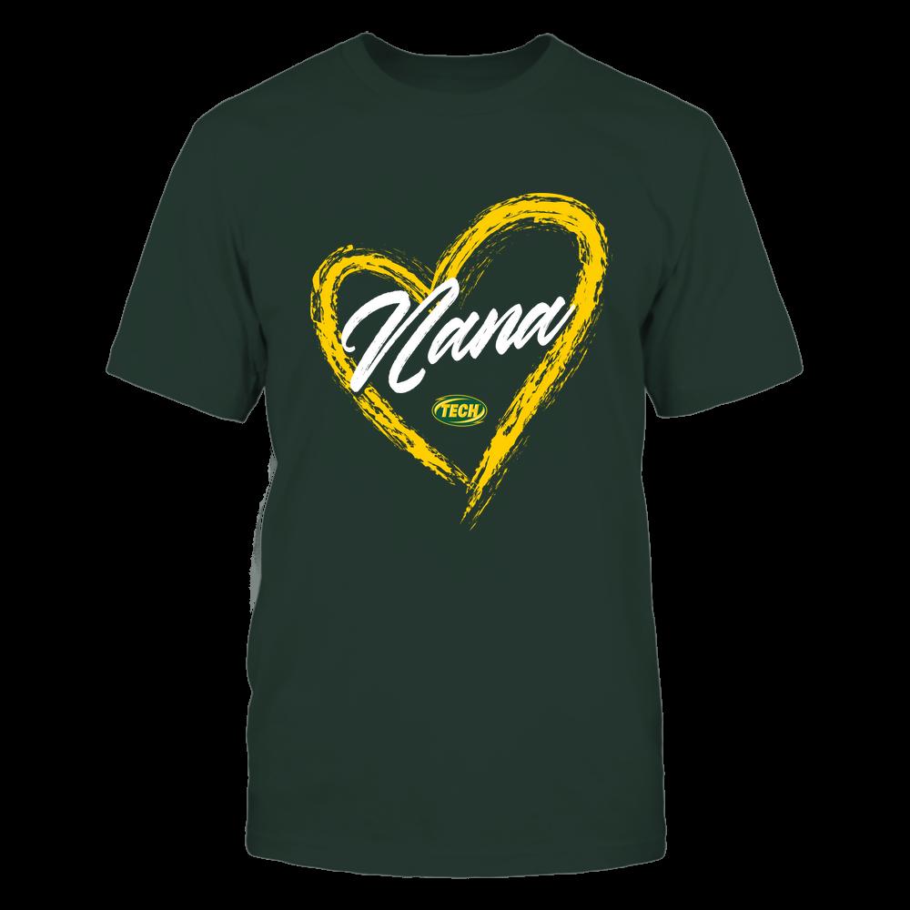 Arkansas Tech Golden Suns - Heart Shape - Nana - University Logo Front picture