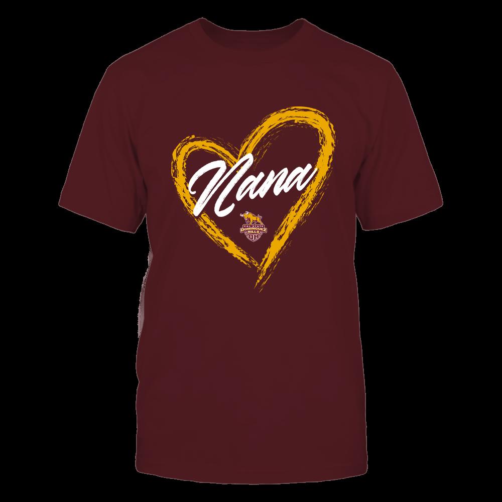 Cal State Dominguez Hills Toros - Heart Shape - Nana - University Logo Front picture