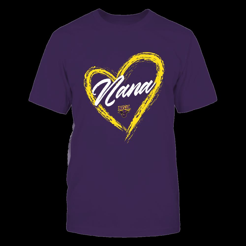 Minnesota State Mavericks - Heart Shape - Nana - University Logo Front picture