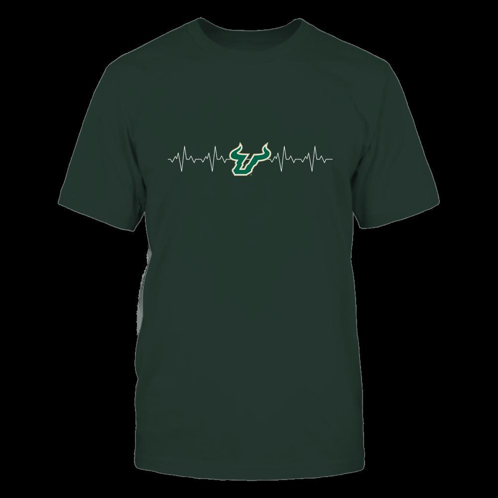 South Florida Bulls - Heart Beat - University Logo Front picture