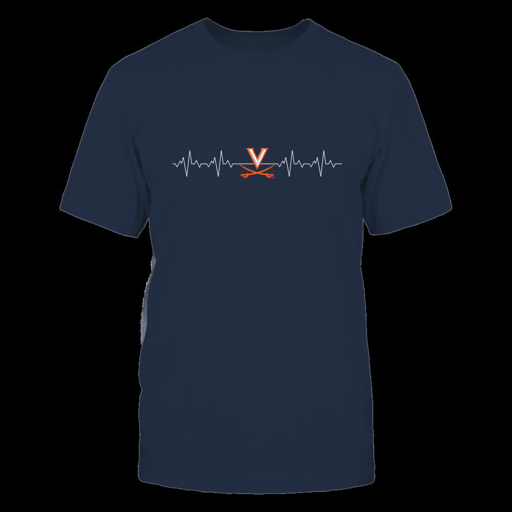 Virginia Cavaliers - Heart Beat - University Logo Front picture