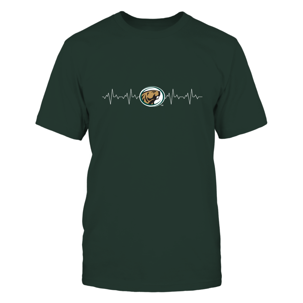 Bemidji State Beavers - Heart Beat - University Logo Front picture