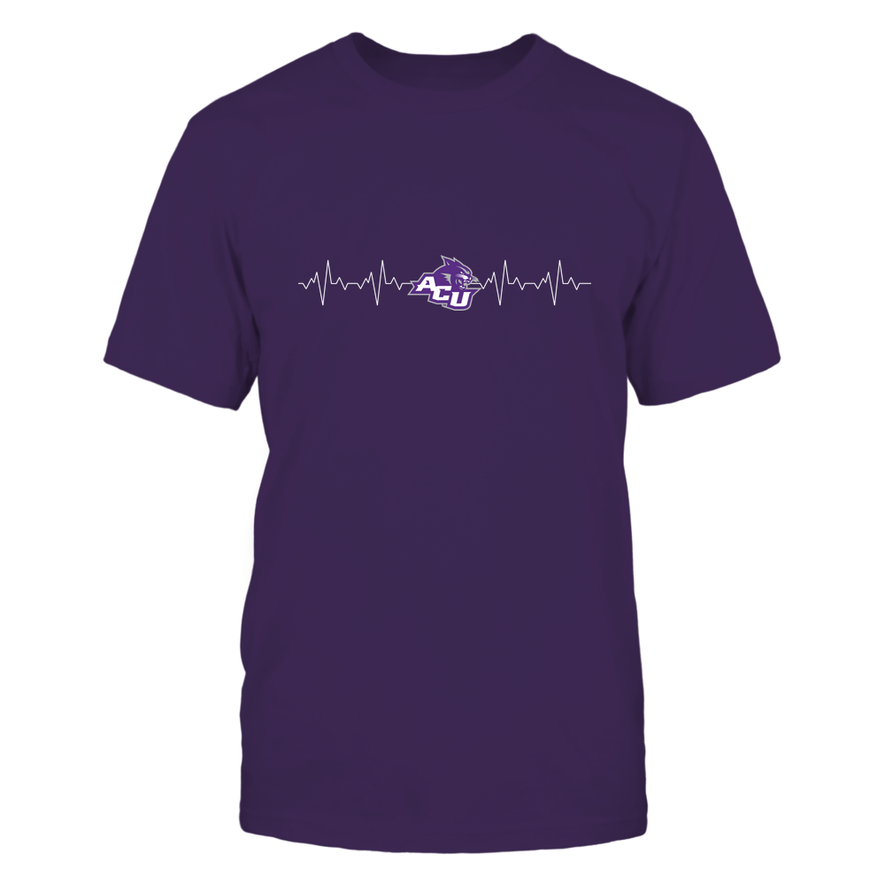 Abilene Christian Wildcats - Heart Beat - University Logo Front picture