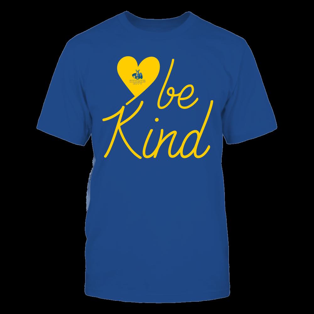 UMKC Kangaroos - Be Kind - University Logo Heart Shape Front picture