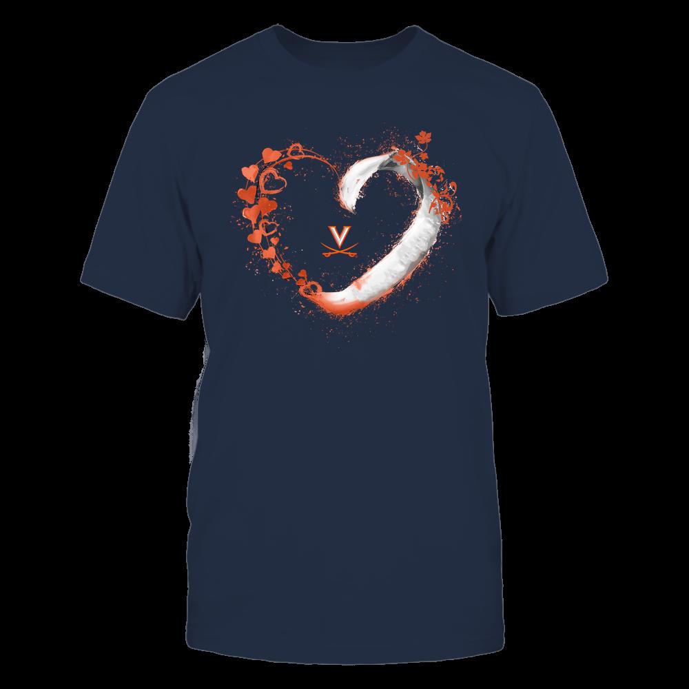 Virginia Cavaliers - Beautiful Heart - Color Drop - University Logo Front picture