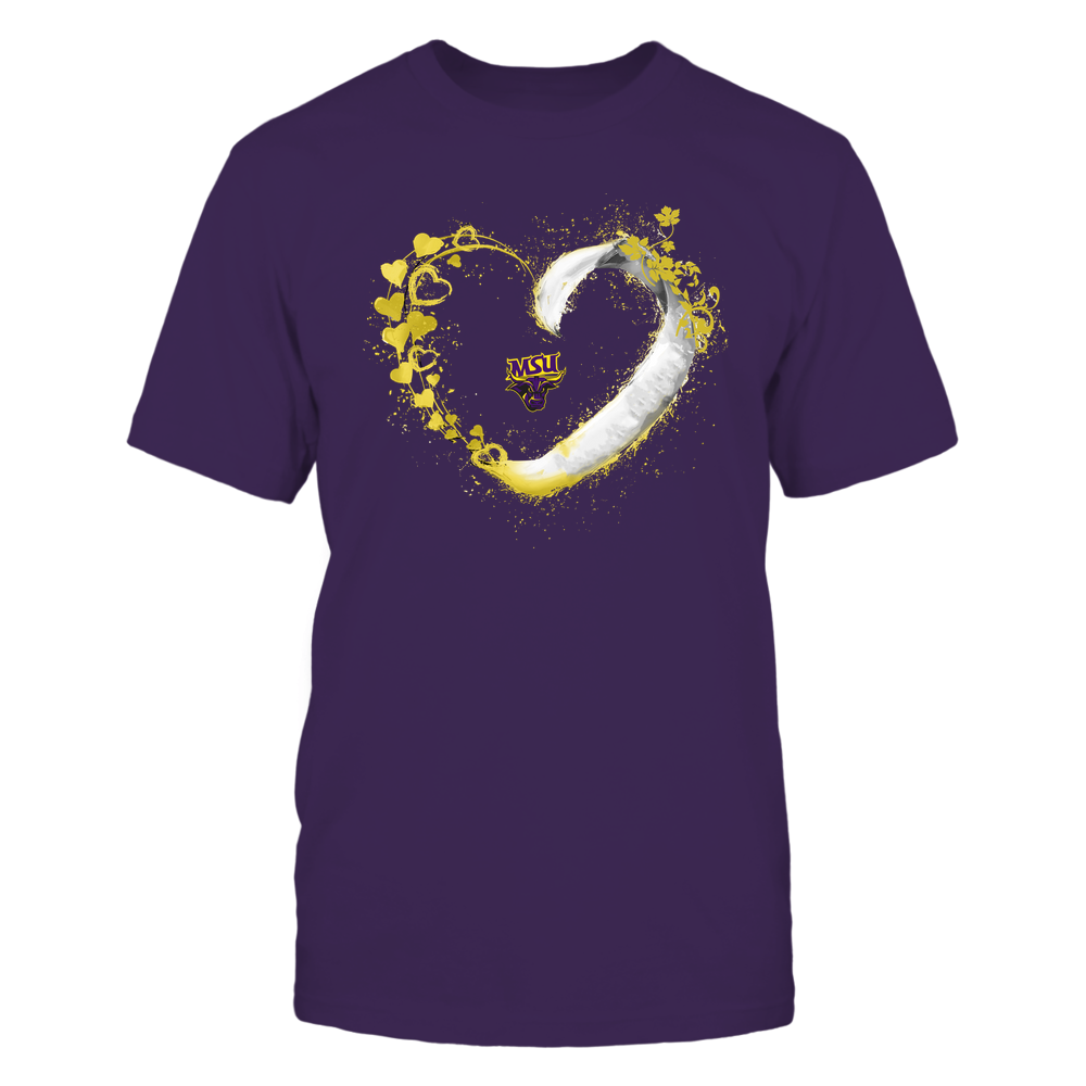 Minnesota State Mavericks - Beautiful Heart - Color Drop - University Logo Front picture