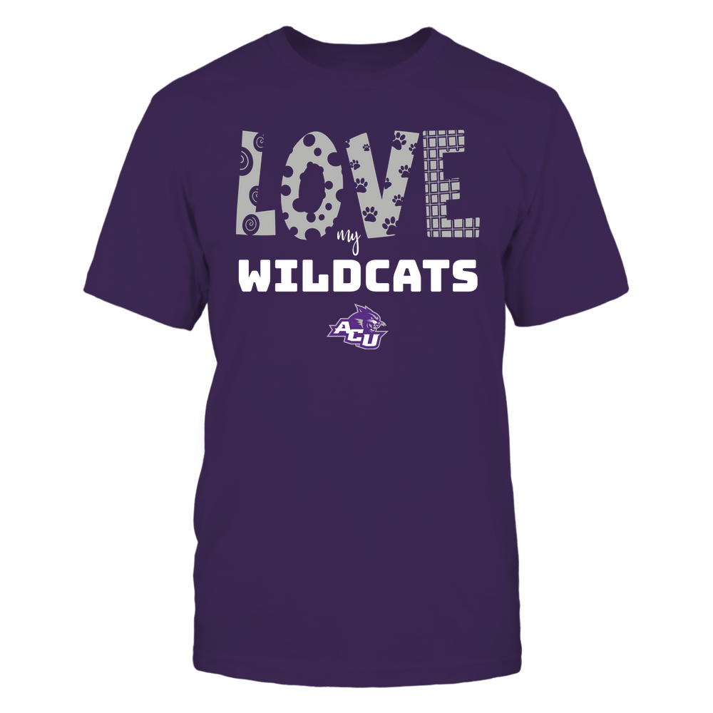 Abilene Christian Wildcats - Love My Team - Doodle Front picture