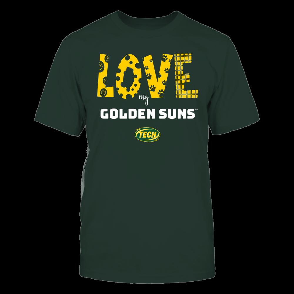Arkansas Tech Golden Suns - Love My Team - Doodle Front picture