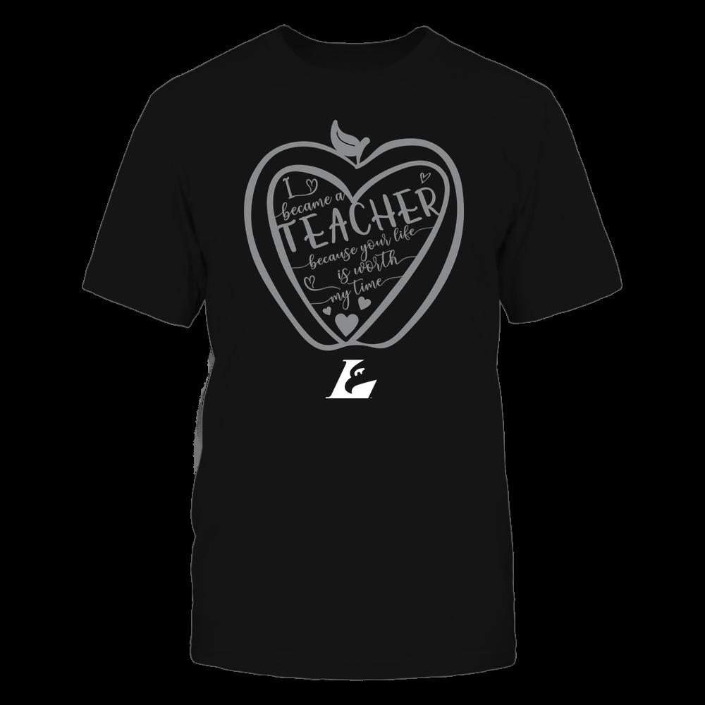 Wisconsin-La Crosse Eagles - Teacher - Heart in Apple Front picture