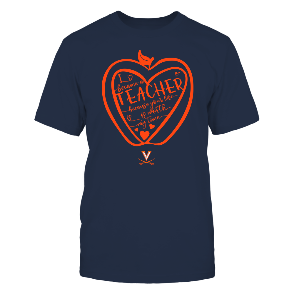 Virginia Cavaliers - Teacher - Heart in Apple Front picture