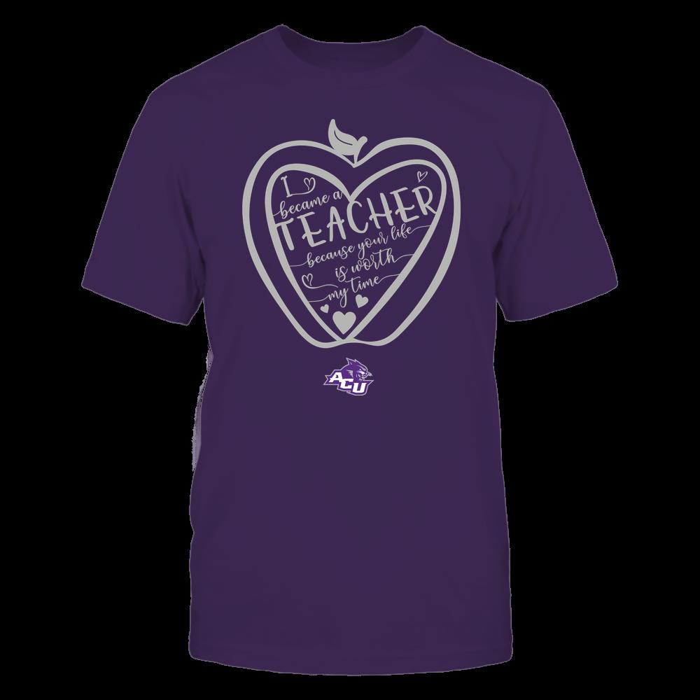 Abilene Christian Wildcats - Teacher - Heart in Apple Front picture